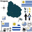 Map of Uruguay — Stock Vector