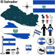 Map of El Salvador — Stockvectorbeeld