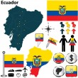 Map of Ecuador — Stock Vector