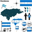 Map of Honduras — Stock Vector