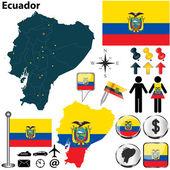 Map of Ecuador — Stock Vector