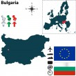 Map of Bulgaria with European Union — Stock Vector