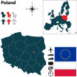 Map of Poland with European Union — Stock Vector #36484417