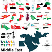Maps of Middle East — Stock Vector