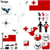 Map of Tonga — Stock Vector