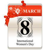 Women's Day Calendar — Stock Vector