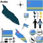 Постер, плакат: Map of Aruba