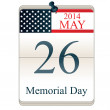 Calendar for Memorial Day — Stock Vector