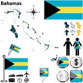 Map of Bahamas — Stock Vector
