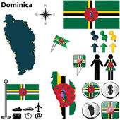 Map of Dominica — Stock Vector