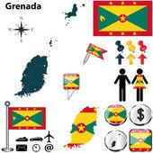 Map of Grenada — Stock Vector