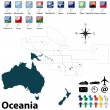 Political map of Oceania — Stock Vector