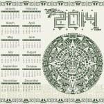 Mayan calendar 2014 — Stock Vector #39061149