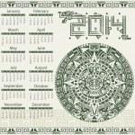 Mayan calendar 2014 — Stock Vector