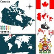 Map of Canada — Stock Vector