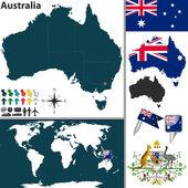 Map of Australia — Stock Vector