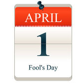 Calendar of Fools day — Stock Vector