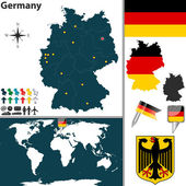 Map of Germany — Stock Vector
