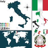 Map of Italy — Stock Vector