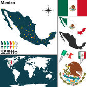 Map of Mexico — Stock Vector