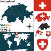 Map of Switzerland — Stock Vector