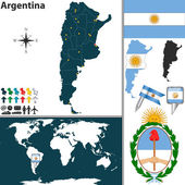 Map of Argentina — Stock Vector