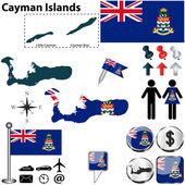 Map of Cayman Islands — Stock Vector