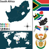 Map of South Africa — Stock Vector