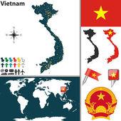 Map of Vietnam — Stock Vector