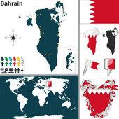 Map of Bahrain — Stock Vector