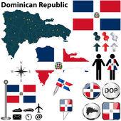 Map of Dominican Republic — Stock Vector