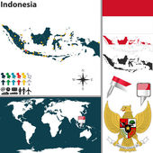 Map of Indonesia — Stock Vector