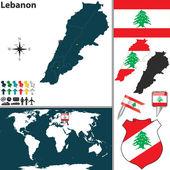 Map of Lebanon — Stock Vector