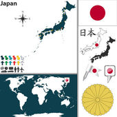 Map of Japan — Stock Vector