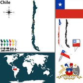 Map of Chile — Stock Vector