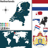 Map of Netherlands — Stock Vector