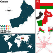 Map of Oman — Stock Vector