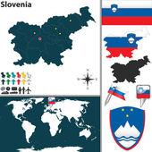 Map of Slovenia — Stock Vector