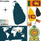 Map of Sri Lanka — Stock Vector