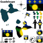 Map of Guadeloupe — Stock Vector