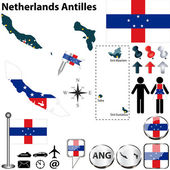 Map of Netherlands Antilles — Stock Vector