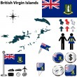 Постер, плакат: Map of British Virgin Islands