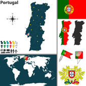 Map of Portugal — Stock Vector