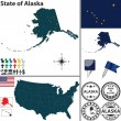 Map of state Alaska, USA — Stock Vector #41850333