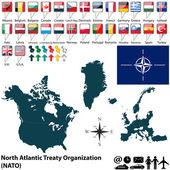 Map on NATO — Stock vektor