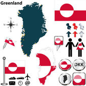 Map of Greenland — Stock Vector