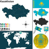 Map of Kazakhstan — Stock Vector