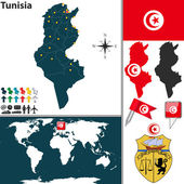 Map of Tunisia — Stock Vector