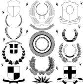 Heraldic Royal elements — Stock Vector
