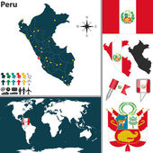 Map of Peru — Stock Vector